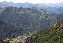 Aulus-les-Bains vu du Mont Béas
